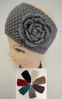 Hand Knitted Ear Band [Tight Knit-Flower]